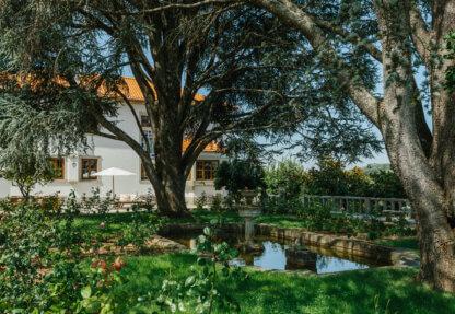 Mansion's romantic garden
