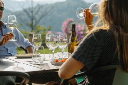 Wine tasting with tapas
